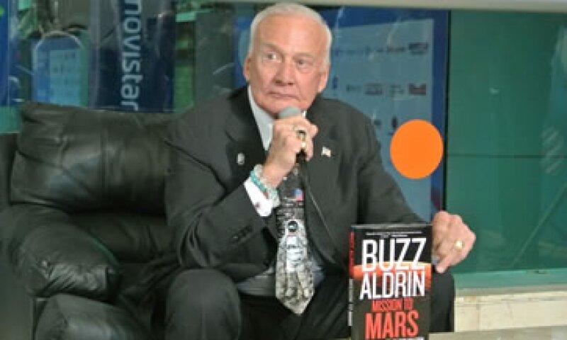 Buzz Aldrin fue el segundo hombre en pisar la luna en 1969.  (Foto: Francisco Rubio)
