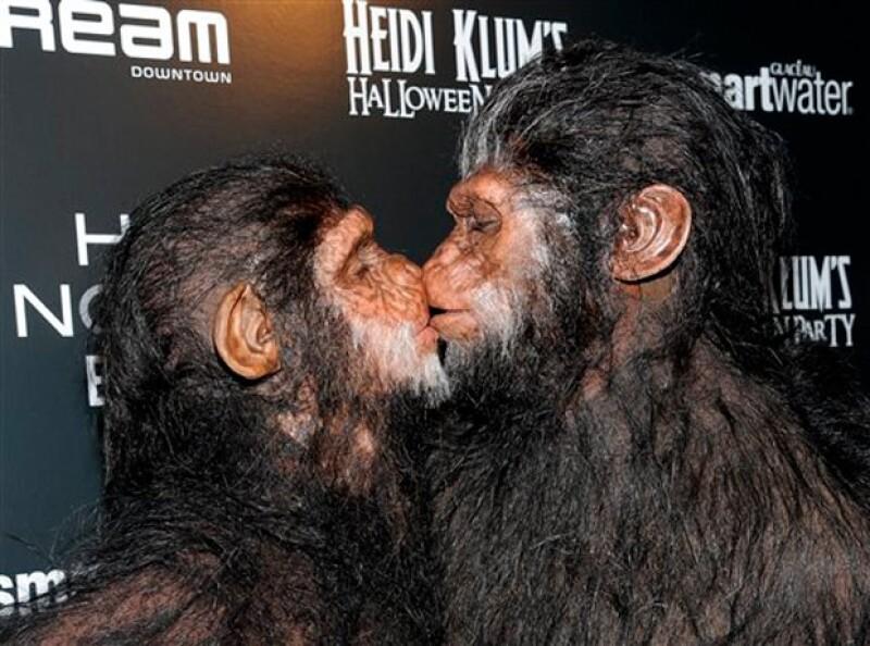 La top model sorprendió con su disfraz de simio en la fiesta de Halloween que organiza cada año. Pero no fue sola también su esposo Seal se puso `mono´.