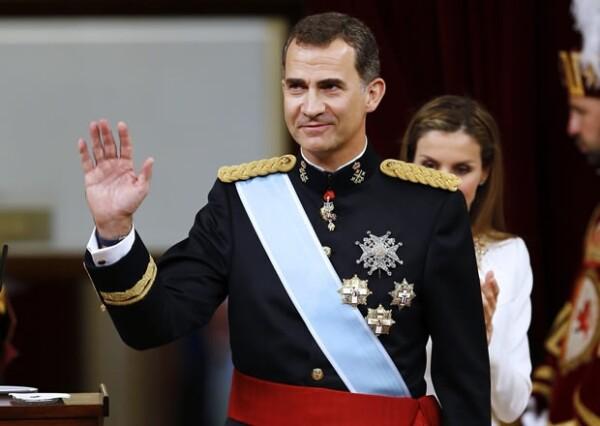 En el Congreso de los Diputados, Felipe VI dio su primer discurso como rey.