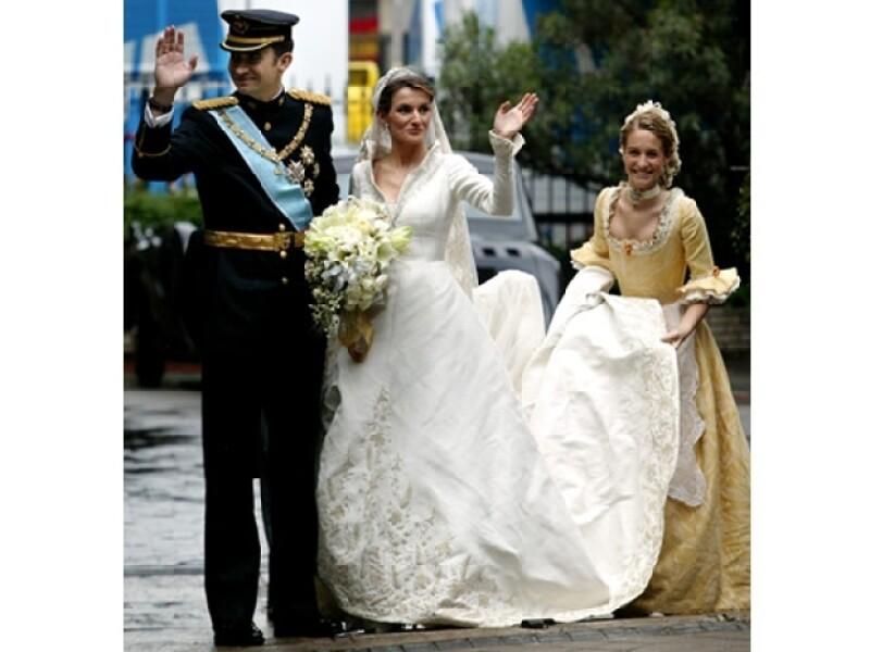 Así lucieron Felipe y Letizia en su boda Real.