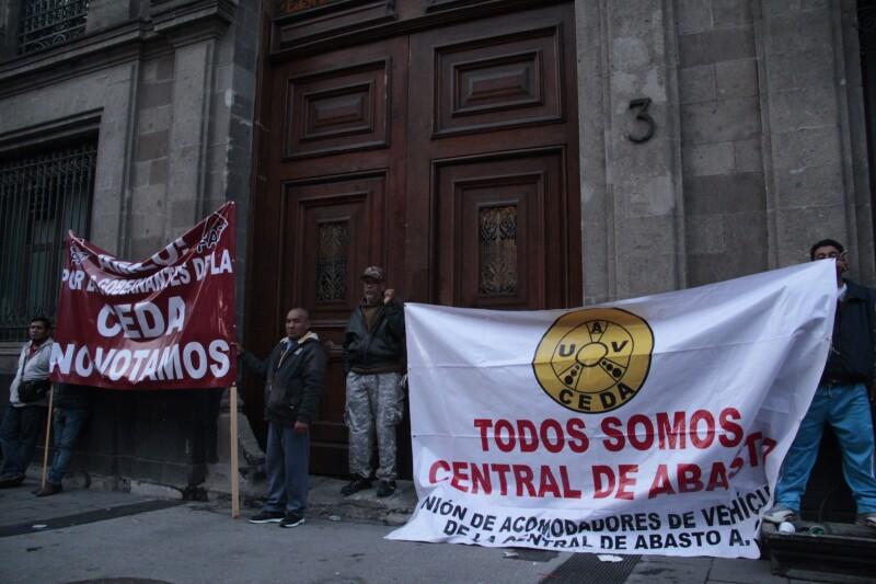manifestantes CEDA