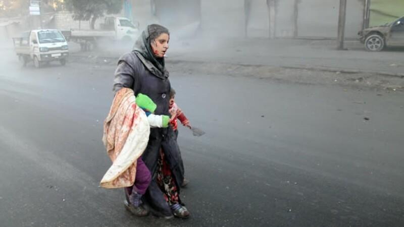 Ataque del regimen sirio en Aleppo
