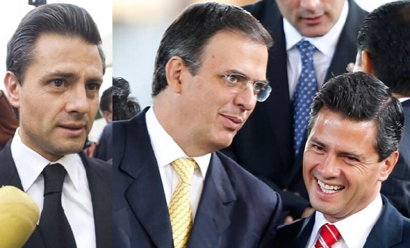 Así luce actualmente el gobernador del Estado de México. A la derecha, con Marcelo Ebrard, durante un diálogo informal ocurrido el viernes pasado.