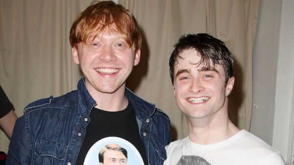Harry Potter Stars backstage at 'How To Succeed in Business Without Really Trying', New York, America - 09 Jul 2011
