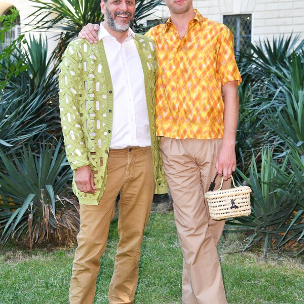 Luca Guadagnino and Damien Chapelle @ FENDI MSS20 Fashion Show.jpg