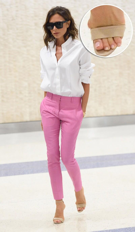 ¿Los ves? Ni la fama, ni el dinero lo son todo, pues no pudieron evitar los estragos que ha traído el uso de tacones en los pies de la reconocida fashionista.