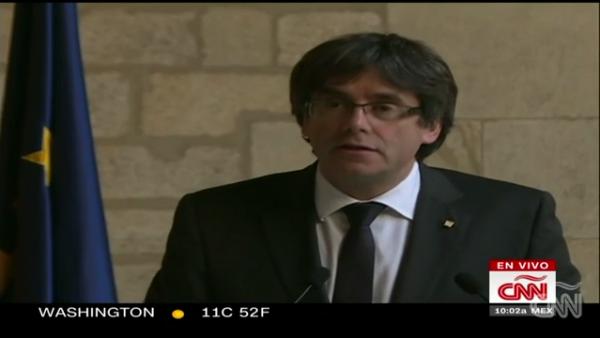 Carles Puigdemont descarta convocar a elecciones regionales en Cataluña