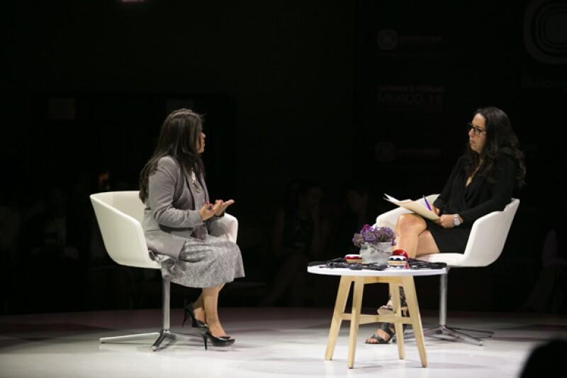 La editora de Quién, Laura Manzo, entrevistó a la activista Marcelina Bautista.