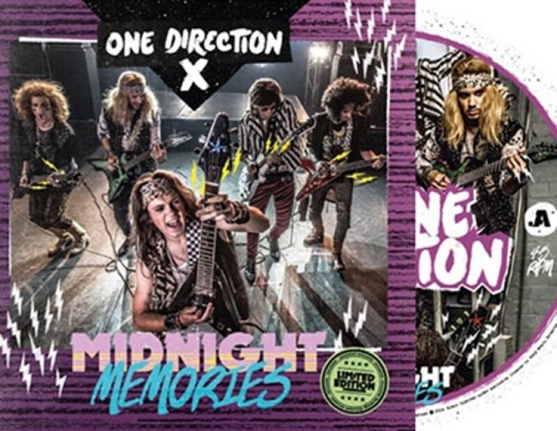 La banda británica lanzará una edición especial en vinil de &#39Midnight Memories&#39 en la que aparecen en la portada con un look glam rock nunca antes visto en ellos.