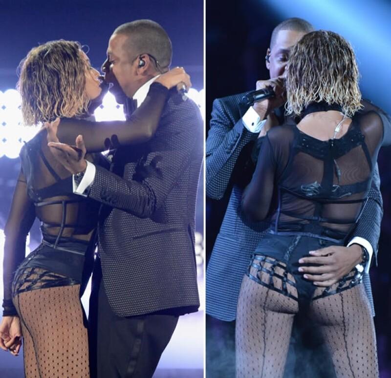 Los esposos dieron un show que cautivó a los presentes y además el rapero dedicó unas emotivas palabras para sus dos mujeres.