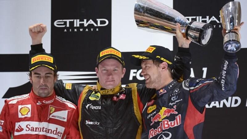 Kimi Raikkonen gana el GP de Abu Dhabi