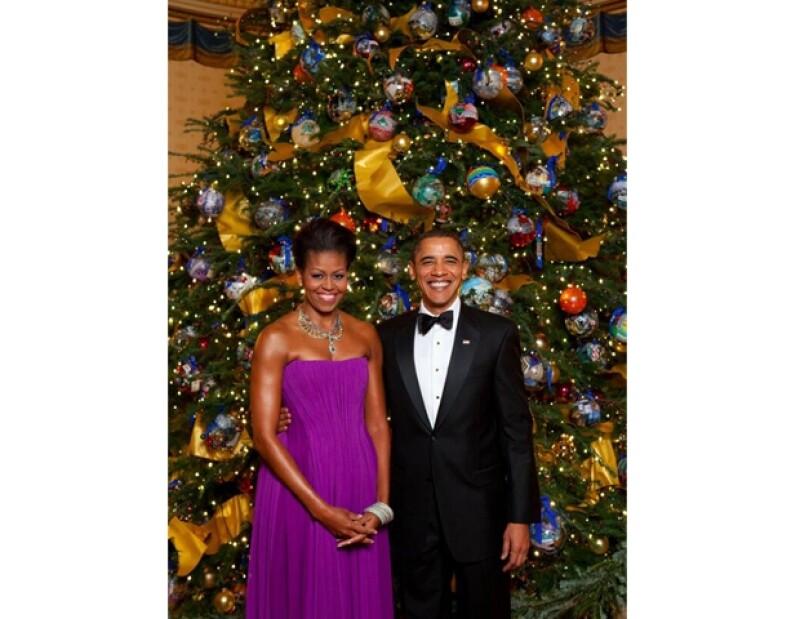 Así desean una feliz navidad Michelle y Barack Obama.