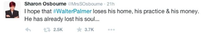 Sharon Osbourne demostró su enojo. Incluso en otro post mencionó que el dentista es Sataná