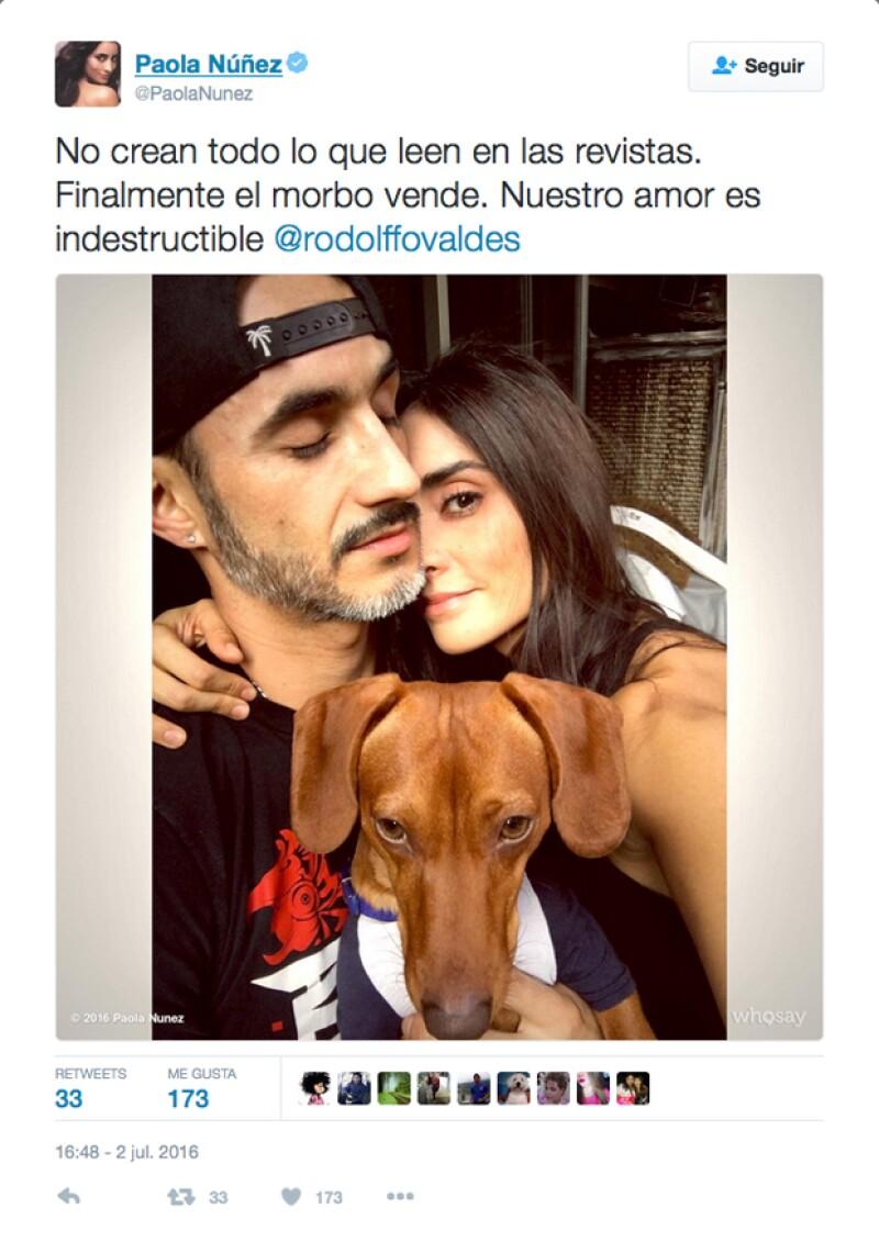 En respuesta a las recientes declaraciones de la actriz, compartimos la grabación de la entrevista en donde asegura haber terminado su noviazgo con el actor Rodolfo Valdés.