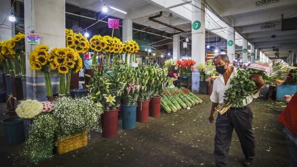 Mercado de jamaica durante la pandemia de COVID-19