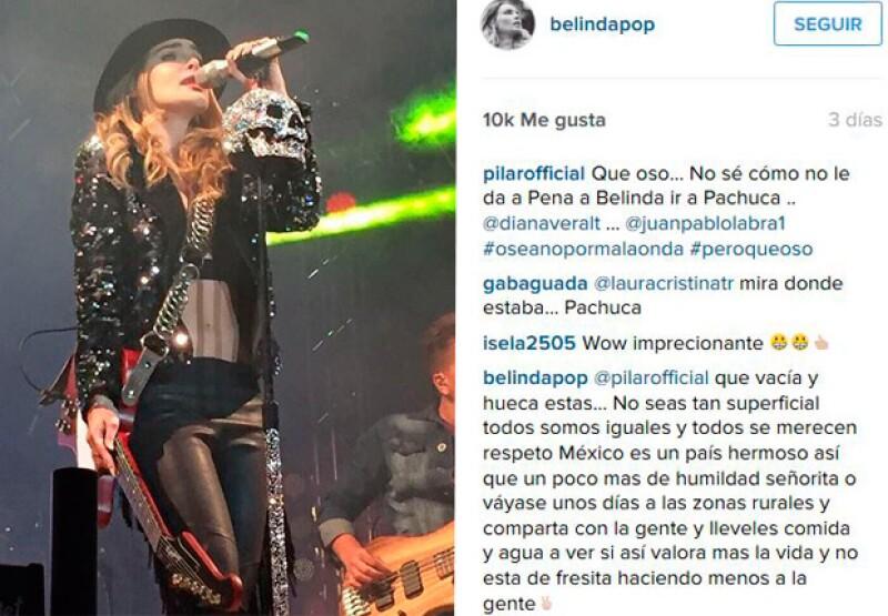 La cantante defendió a sus fans, quienes se mostraron felices con su visita a Pachuca.