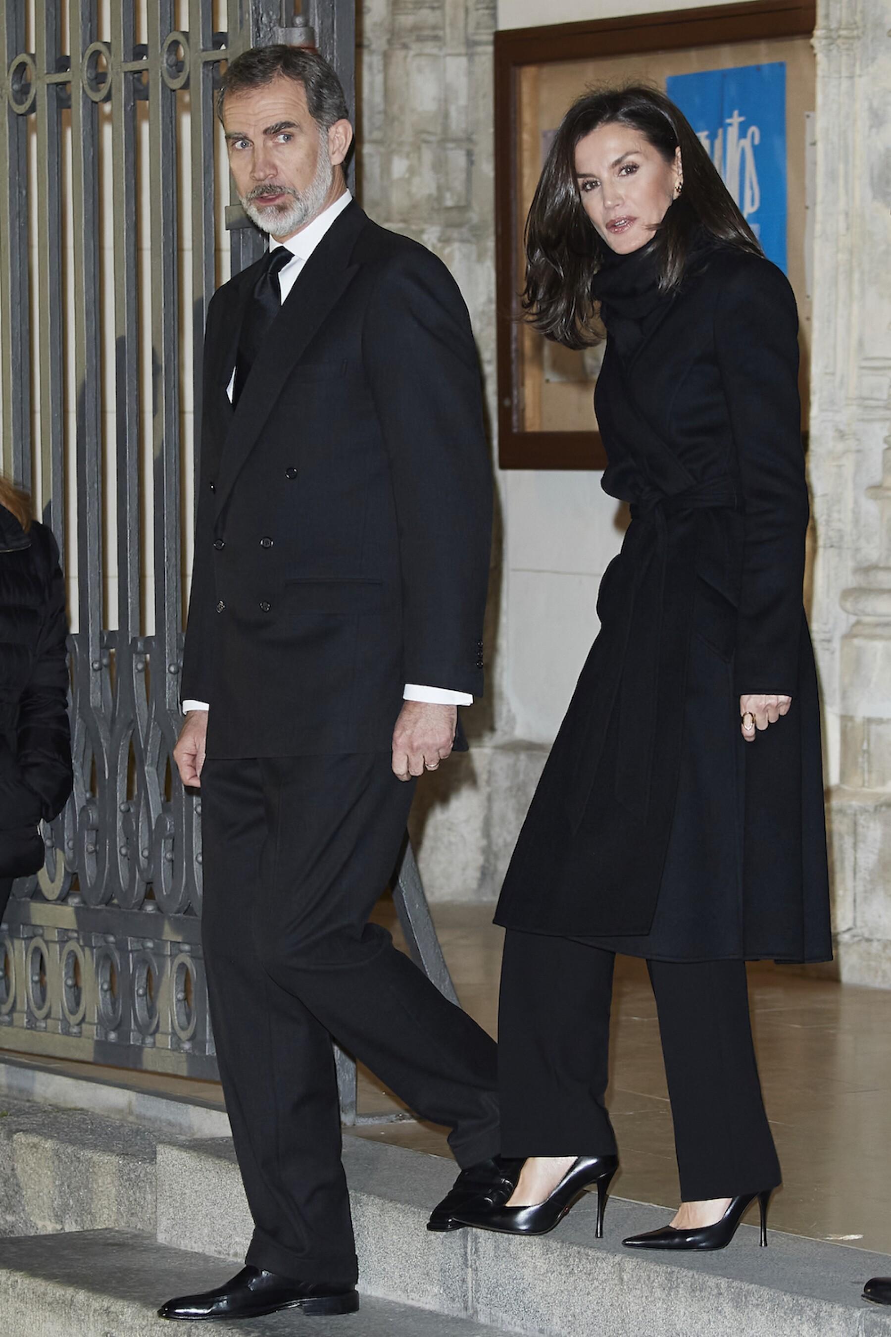 Spanish Royals Attend Placido Arango's Funeral