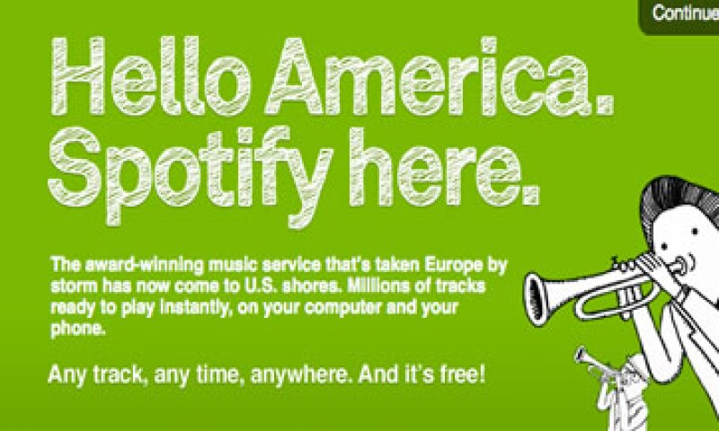 Spotify ofrece el servicio de música en tiempo real y se estrenó en Suecia hace tres años. (Foto: AP)