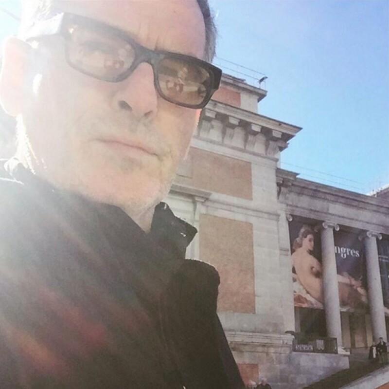 El actor compartió un par de fotografías durante su paseo cultural por Madrid.