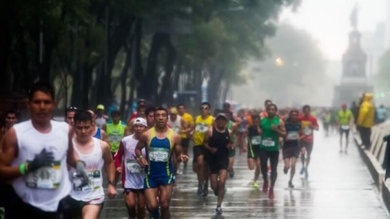 maraton ciudad de mexico lluvia