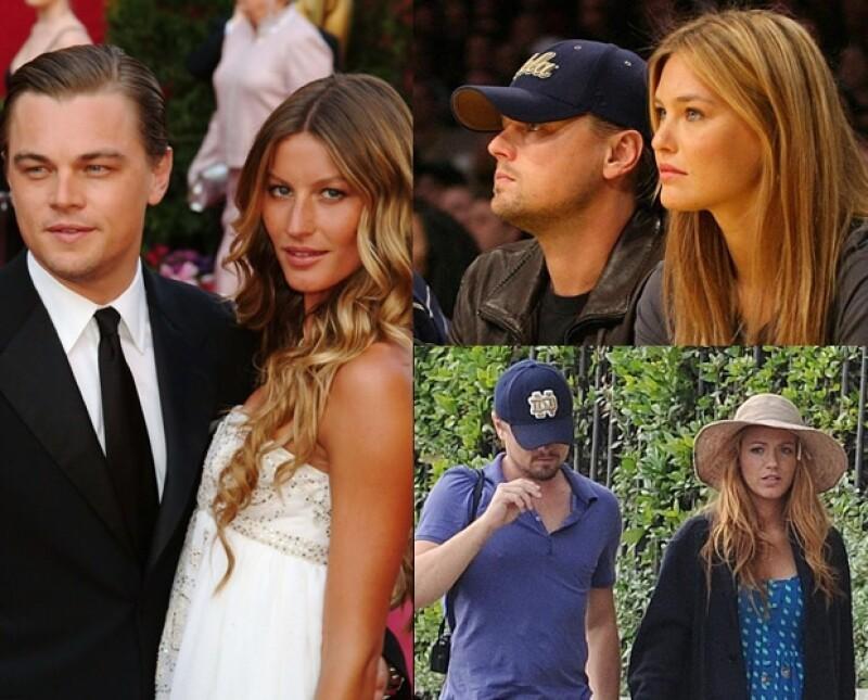 Las rubias de Leonardo DiCaprio.