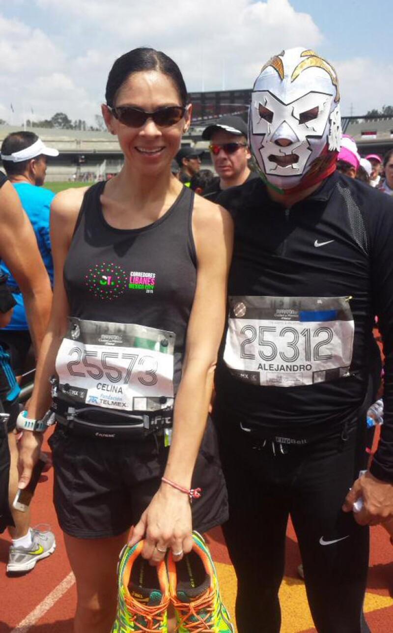 Celina corrió 42 kilómetros en el reciente maratón de la Ciudad de México.