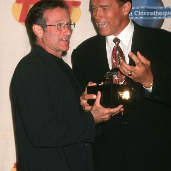 Arnold Schwarzenegger también formaba parte del grupo de amigos de Robin Williams.