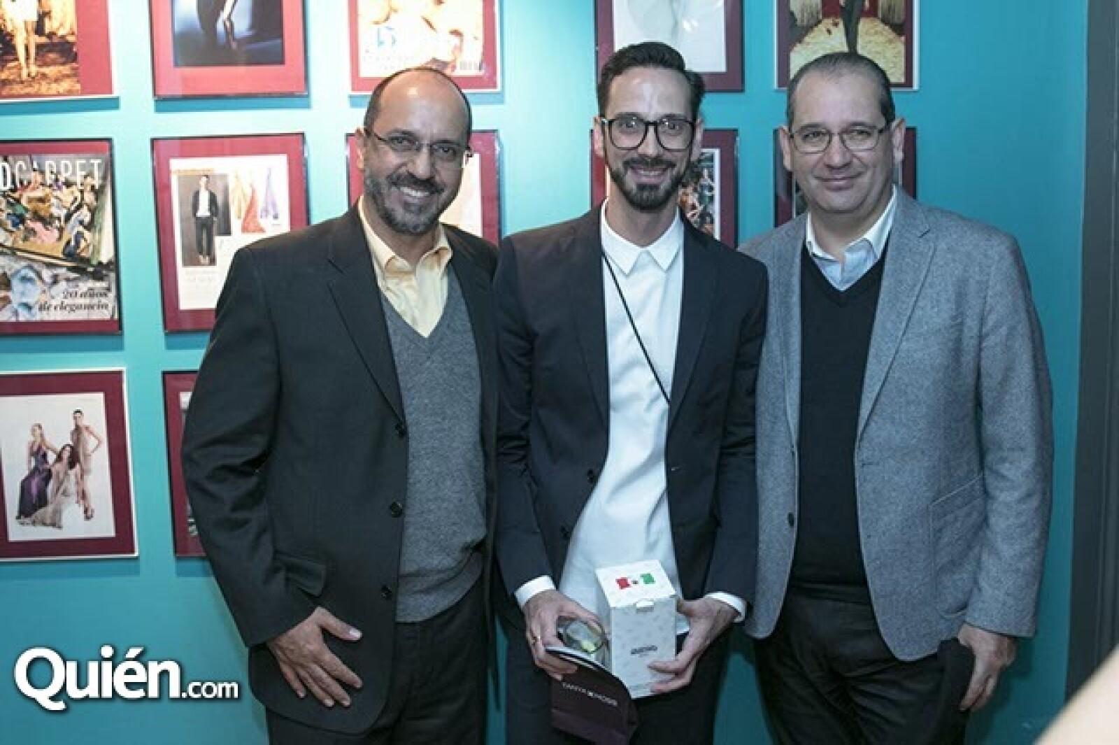 Carlos, Macario y Fernando Jiménez