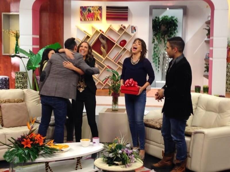 Martha Guzmán tuvo una calurosa bienvenida.