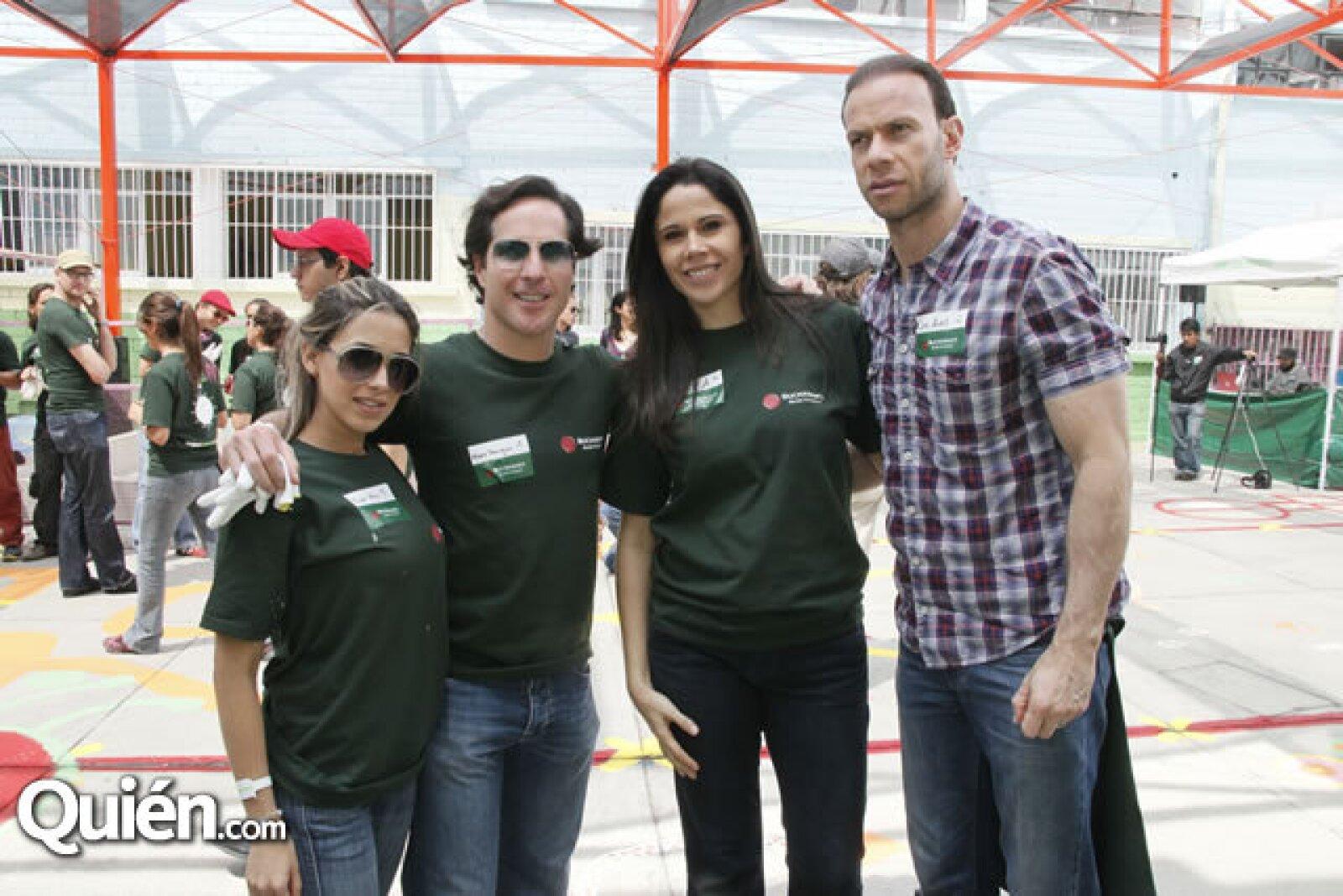 Raquel Allec, Mario Domínguez, Paola Rojas y Luis Roberto Alves