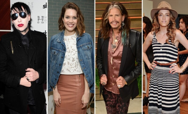 Marilyn Manson, Mandy Moore, Steven Tyler y la hermana de Amber, Whitney Heard figuraron entre los invitados de la noche.