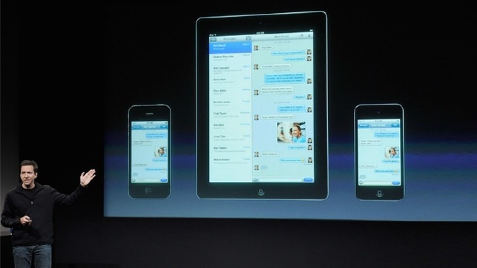 iMessage apple iphone 4oct 2011 presentacion