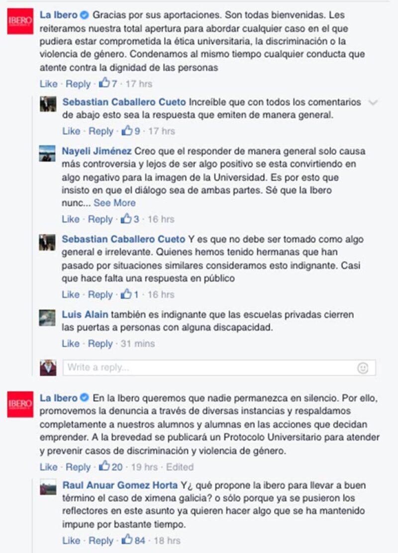 Los estudiantes de la Ibero se han solidarizado con el caso de Ximena y han expresado su enojo en redes sociales.