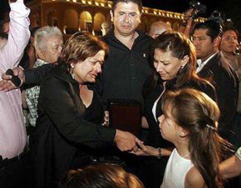 La urna con las cenizas del fallecido secretario de Gobernación fueron depositadas ayer en la Catedral de San Francisco luego de una emotiva ceremonia.