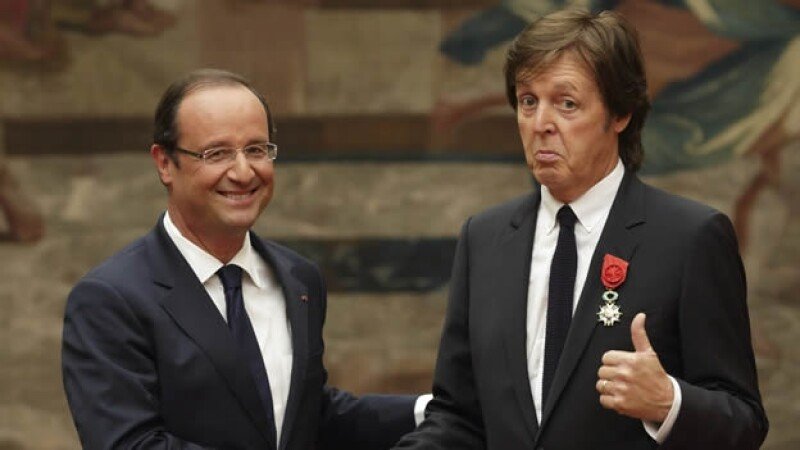 Paul McCartney - François Hollande