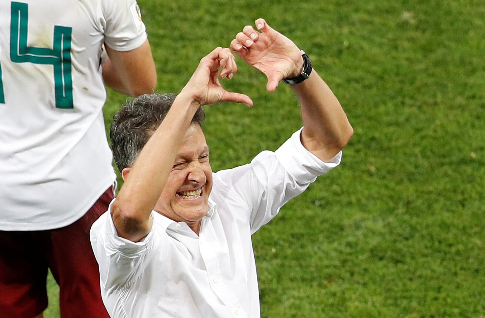 El cuestionado Juan Carlos Osorio festeja el triunfo