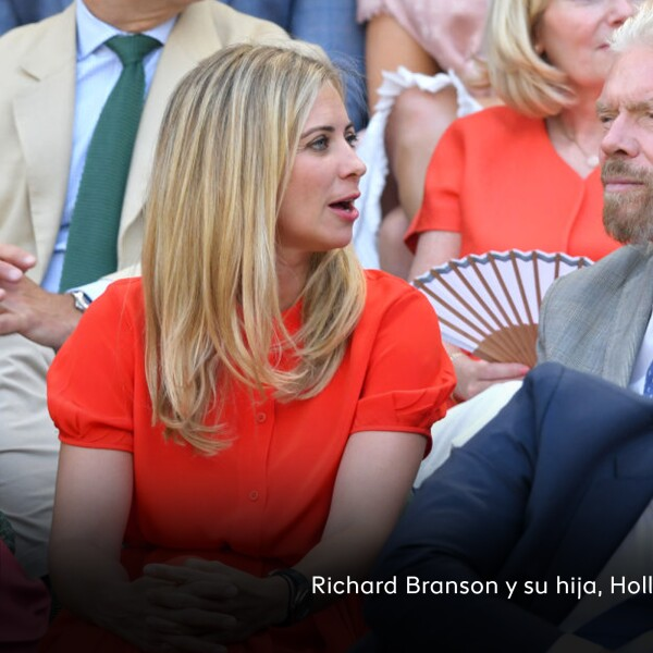 Richard Branson y su hija, Holly.