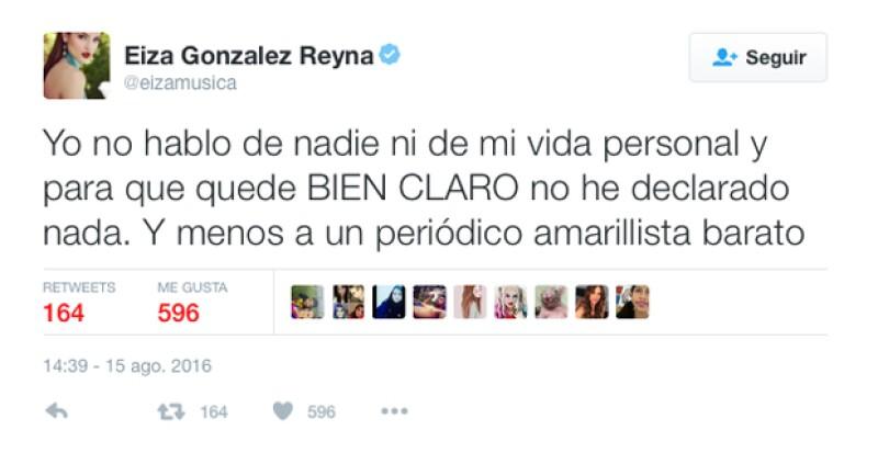 """Esta es la declaración que sí hizo Eiza González con respecto a lo que publicó un medio diciendo que ella veía a Cristiano como """"una amiga""""."""