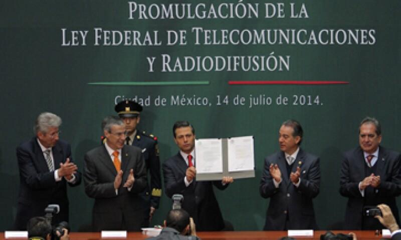 Durante la promulgación de la ley en telecomunicaciones el presidente Peña Nieto resaltó los beneficios de la normativa. (Foto: Notimex)