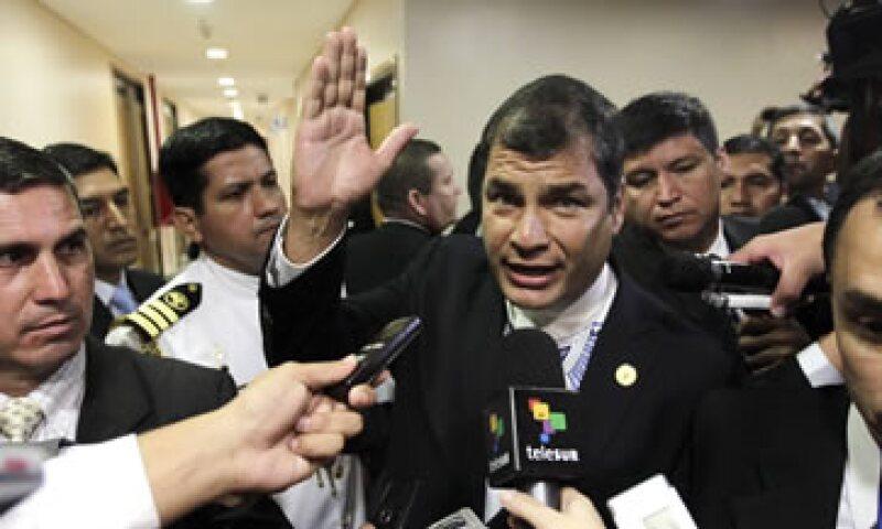 Rafael Correa dijo que el BM canceló un préstamo concedido a Ecuador porque había cambiado la política económica del país luego de su llegada al Gobierno.  (Foto: Reuters)