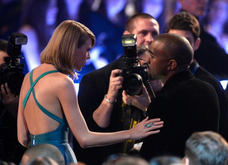 Taylor se mostró interesada en la conversación que mantuvo con el rapero.