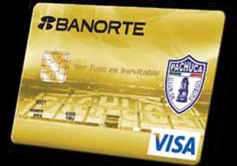 La tarjeta de crédito de los Tuzos.  (Foto: Cortesía Banorte)