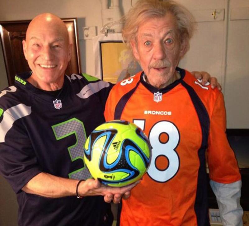 Patrick Stewart e Ian McKellen.