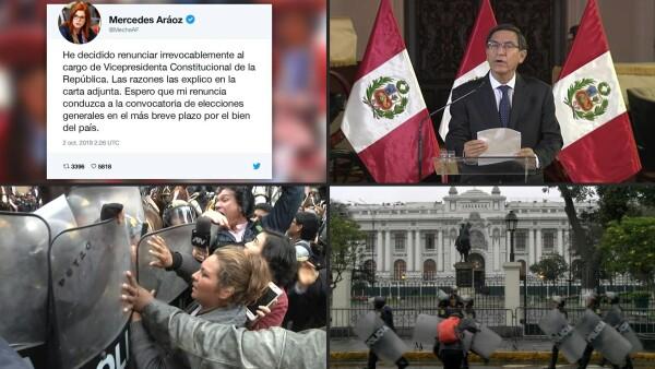 Renuncia la jefa de Estado interina de Perú, nombrada por el disuelto Congreso