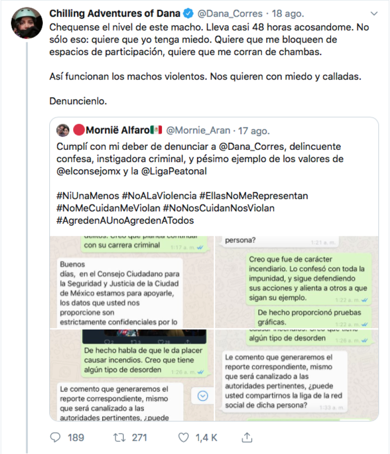 Amenazas contra Dana Corres