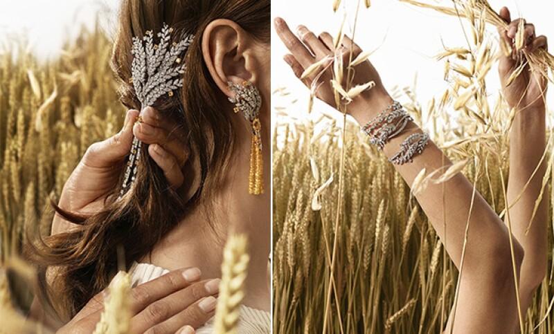 Con oro blanco, y gemas como diamantes tanto blancos como amarillos, esmeraldas y turquesas, la colección tiene un aire muy fresco.