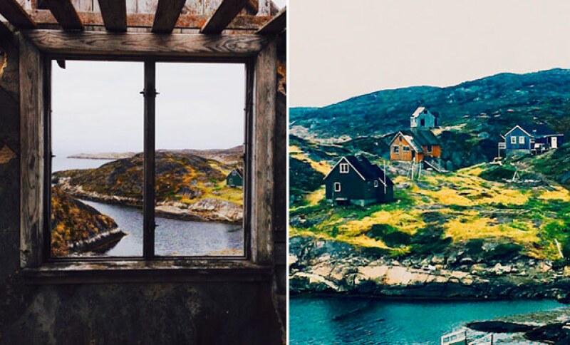 Después de Islandia, Groenlandia fue su nuevo destino, en donde han disfrutado incluso de los pueblos fantasma.