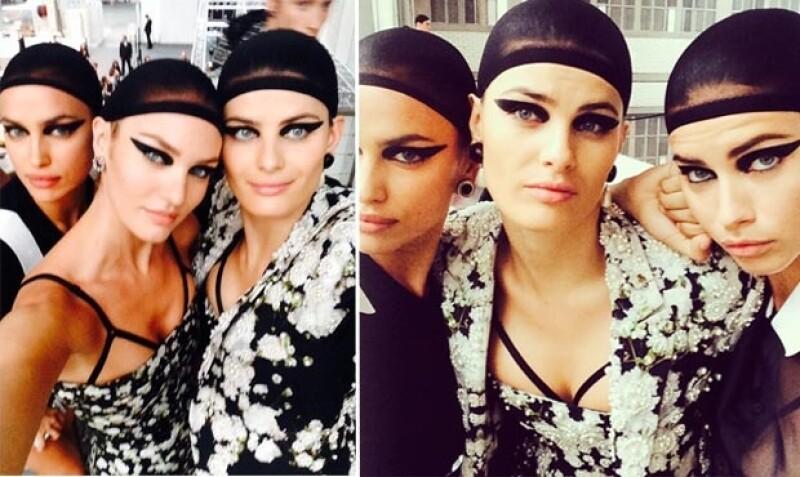 Las modelos presumieron en redes sociales sus looks.
