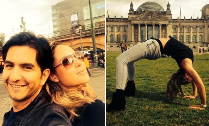 Vane se reencontró con un amigo de la infancia en su estancia en Berlín.