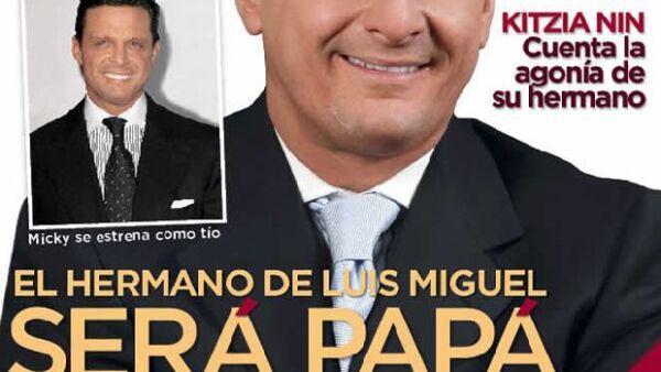 La revista tiene en portada al hermano de Luis Miguel, quien se convertirá en papá a principios del 2010. Todos los detalles de su historia con Bibi Domit a partir de este martes.